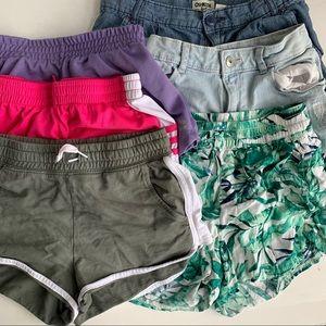 6 pair of various shorts size 10